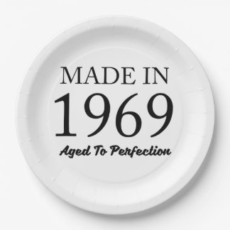Made In 1969 9 Inch Paper Plate