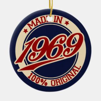 Made In 1969 Ceramic Ornament