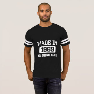 Made In 1969 Football Jersey T-shirt