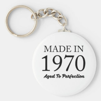 Made In 1970 Basic Round Button Key Ring