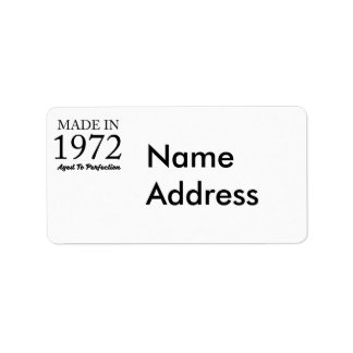 Made In 1972 Address Label