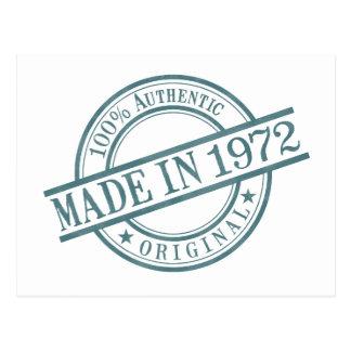 Made in 1972 Circular Stamp Style Logo Postcard