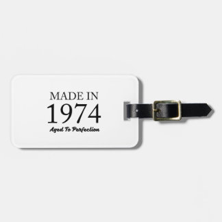 Made In 1974 Luggage Tag