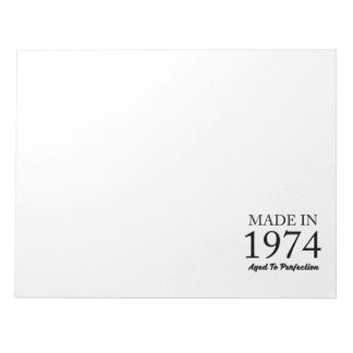 Made In 1974 Notepad