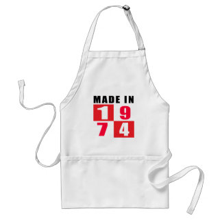 Made In 1974 Standard Apron
