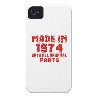 Made In 1974 With All Original Parts Case-Mate iPhone 4 Cases