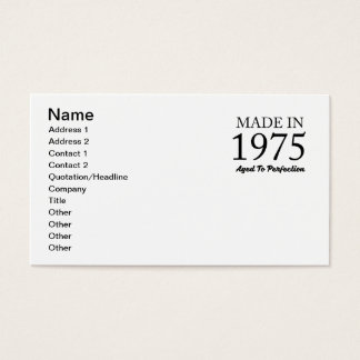 Made In 1975 Business Card
