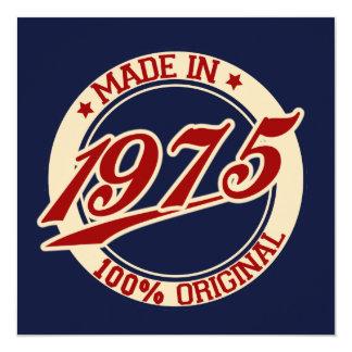 Made In 1975 13 Cm X 13 Cm Square Invitation Card
