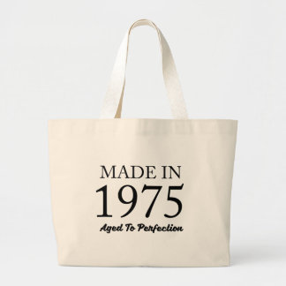 Made In 1975 Large Tote Bag