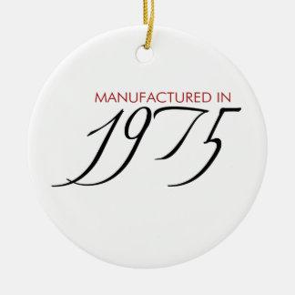 Made in 1975 - Manufactured in 1975 Round Ceramic Decoration