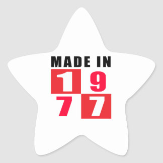 Made In 1977 Birthday Designs Sticker