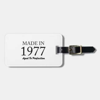 Made In 1977 Luggage Tag