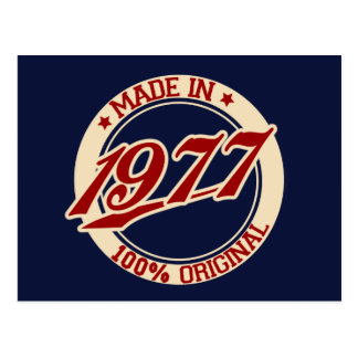 Made In 1977 Postcard