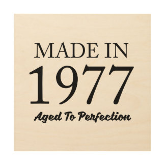 Made In 1977 Wood Wall Art