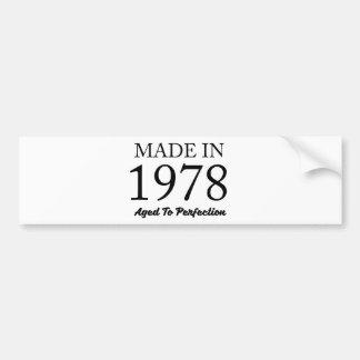 Made In 1978 Bumper Sticker