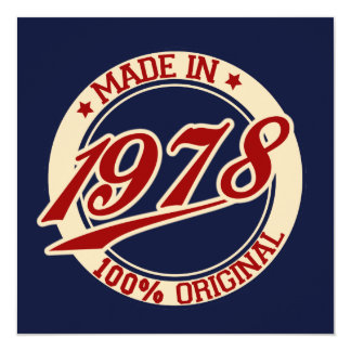 Made In 1978 Card