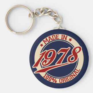 Made In 1978 Key Ring