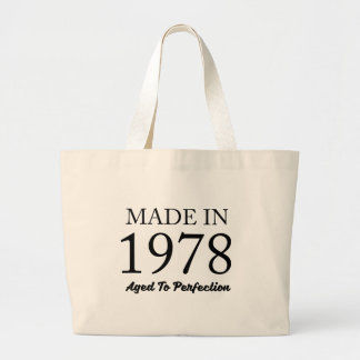 Made In 1978 Large Tote Bag