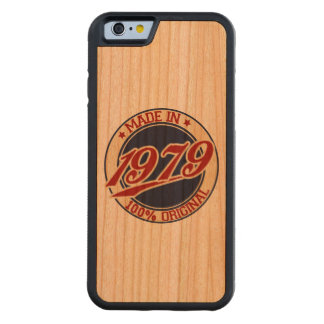 Made In 1979 Carved Cherry iPhone 6 Bumper Case