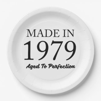 Made In 1979 Paper Plate