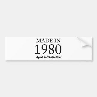 Made In 1980 Bumper Sticker