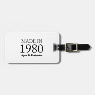 Made In 1980 Luggage Tag