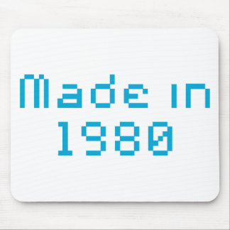 made in 1980 shirt mouse pad