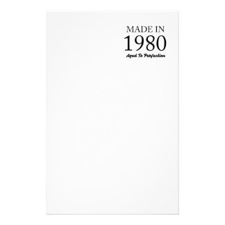 Made In 1980 Stationery