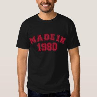 Made in 1980 tee shirt