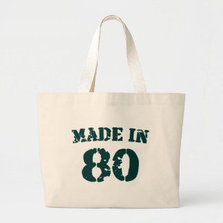 Made In 1980 Canvas Bags