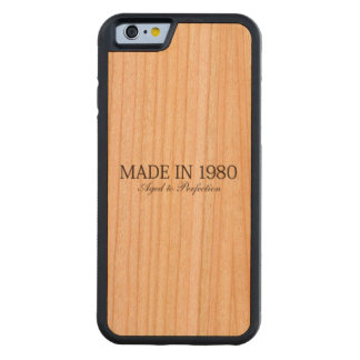 Made in 1980 carved® cherry iPhone 6 bumper case