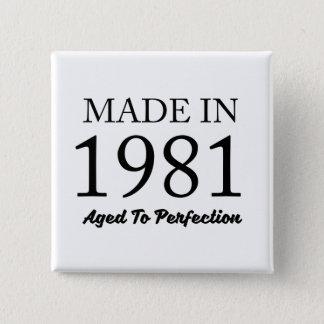 Made In 1981 15 Cm Square Badge