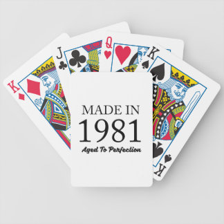 Made In 1981 Bicycle Playing Cards
