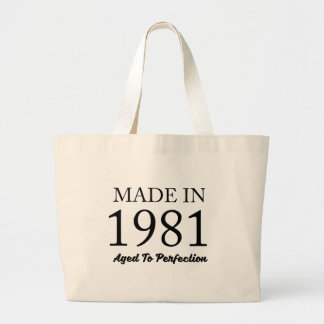 Made In 1981 Large Tote Bag