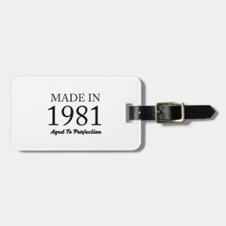 Made In 1981 Luggage Tag