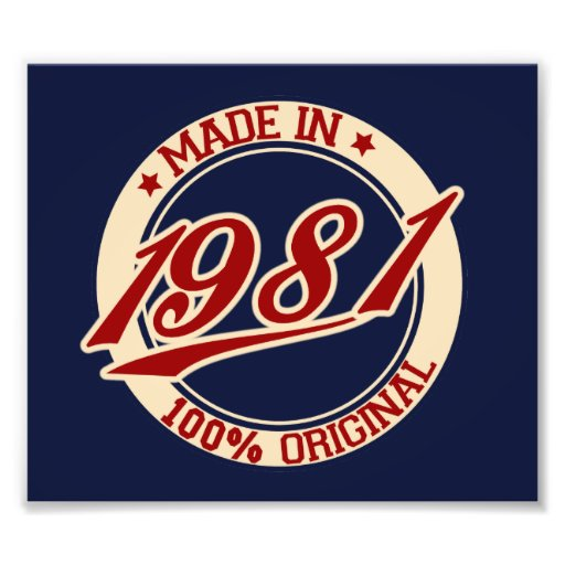 Made In 1981 Photo