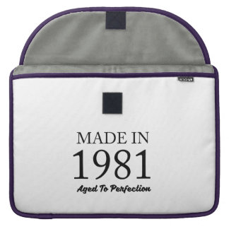 Made In 1981 Sleeve For MacBooks