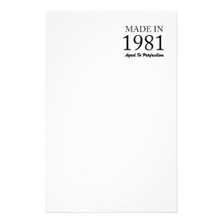 Made In 1981 Stationery
