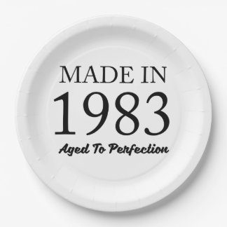 Made In 1983 Paper Plate