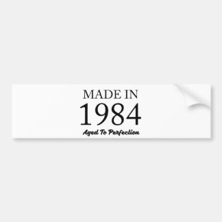 Made In 1984 Bumper Sticker