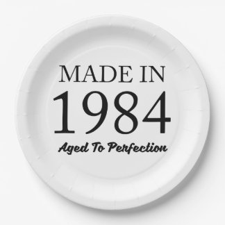 Made In 1984 Paper Plate