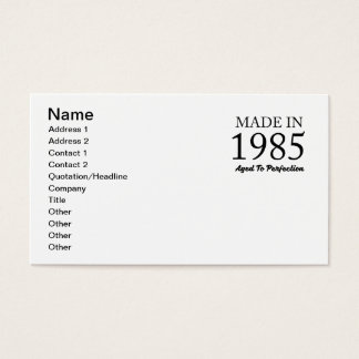 Made In 1985 Business Card