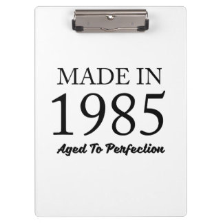 Made In 1985 Clipboard