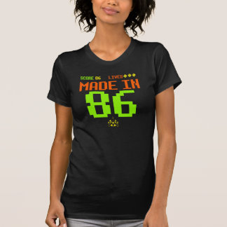 MADE in 1986 RETRO Inspired ARCADE Birthday Tee