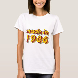 Made in 1986 (Yellow&Red) T-Shirt