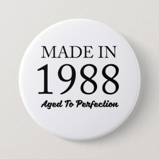 Made In 1988 7.5 Cm Round Badge