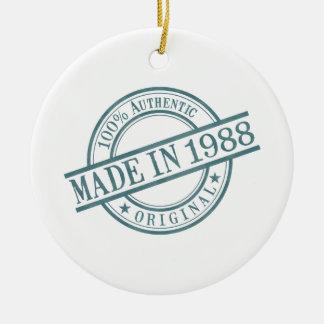 Made in 1988 ceramic ornament