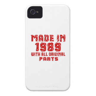 Made In 1989 With All Original Parts iPhone 4 Case
