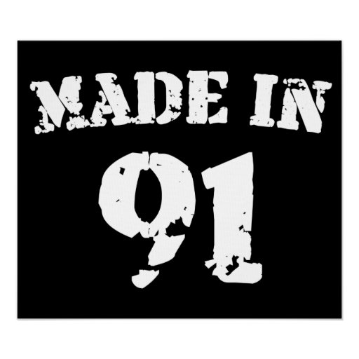 Made In 1991 Poster
