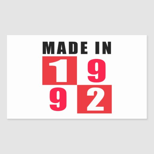 Made In 1992 Birthday Designs Stickers